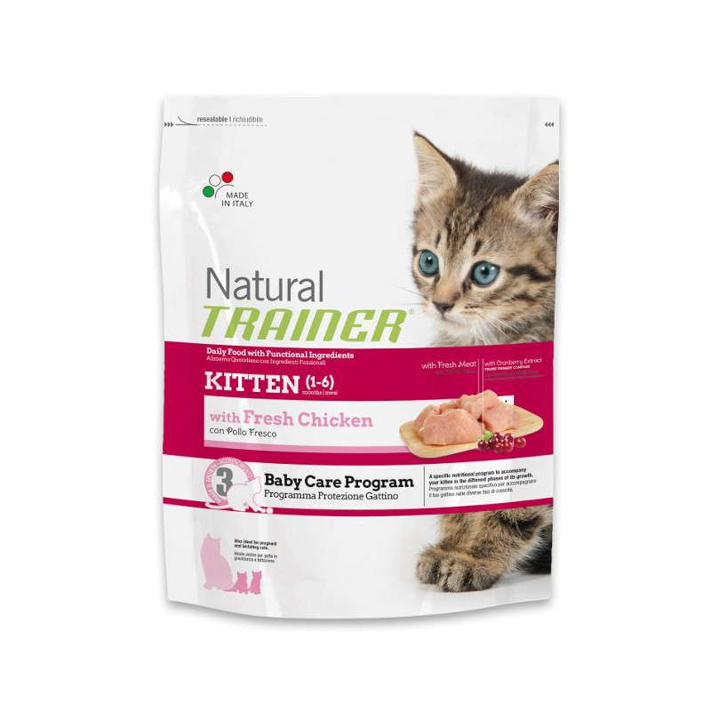 Nova Foods Natural Trainer Cat - Kitten with fresh Chicken 7.5 kg, 300 g, 1.5 kg
