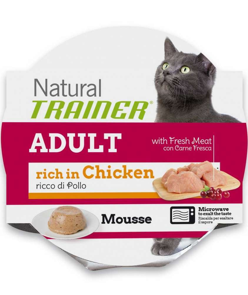 Nova Foods Natural Trainer Mousse Cat - Adult with fresh Chicken 85 g