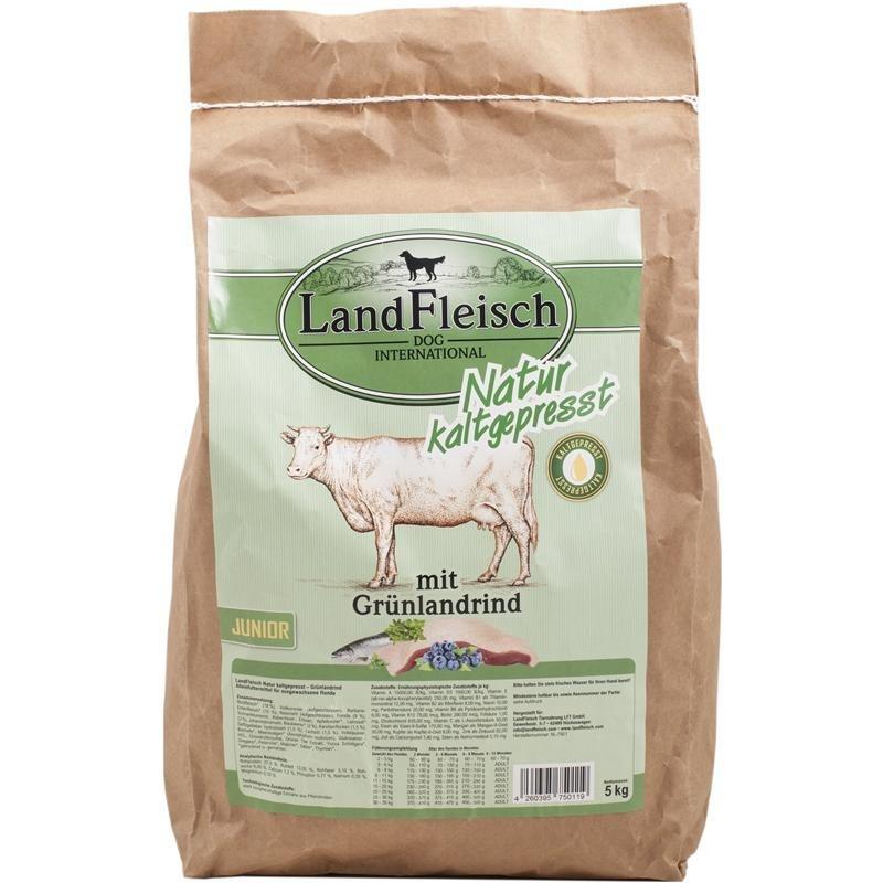 Landfleisch Naturaleza Prensado en Frio Junior con Pastizales de Ganado 5 kg, 15 kg prueba