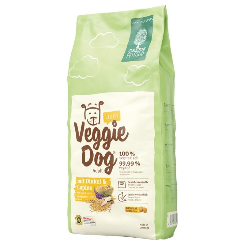 Green Petfood VeggieDog Light 15 kg, 2 kg