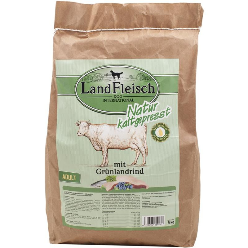 Landfleisch Natural Prensado en Frio Adulto con Pastizales de Ganado 5 kg