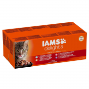 IamsDelights Land and Sea Collection for Adult cats in Jelly 48x85 g