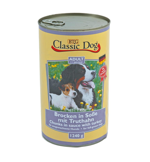 Classic Dog Can Turkey 1.24 kg 4260104074659 anmeldelser