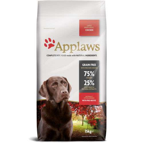 Applaws Adult Large Breed met Kip 15 kg, 2 kg, 7.5 kg