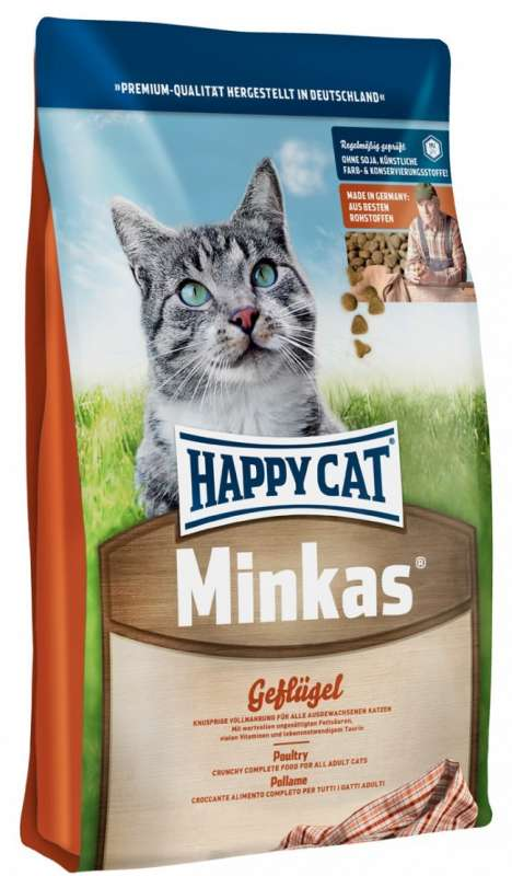 Happy Cat Minkas com Aves Domesticas 4 kg