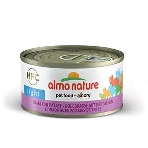 Almo Nature Gold Bream with Potatoes Light canned 70 g test