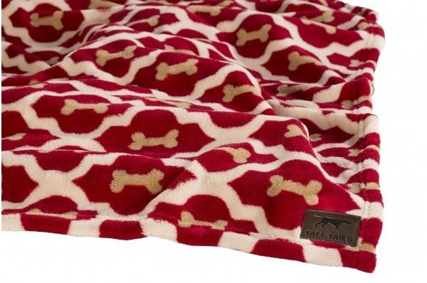 Cobertor Macio Veludo - Ossos Vermelhos 76x101 cm  da Tall Tails Compre a bom preço com desconto