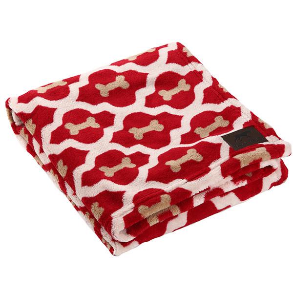 Tall Tails Cobertor Macio Veludo - Ossos Vermelhos