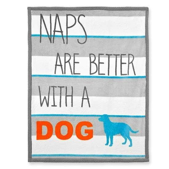 """Territory Manta """"Naps are better with a Dog"""" 0022266142430 opinião"""