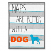 "Blanket ""Naps are better with a Dog"" Art.-Nr.: 48446"
