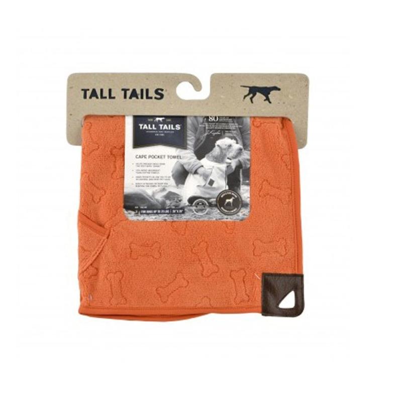 Tall Tails Toalla para Perro Crema y Salvia  Naranja 68x68 cm