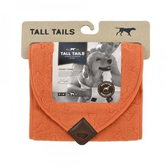 Tall Tails Toalla Bolsas Pocket Towel Naranja 25x91 cm