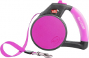 Retractable Gel Leash Rosa caldo