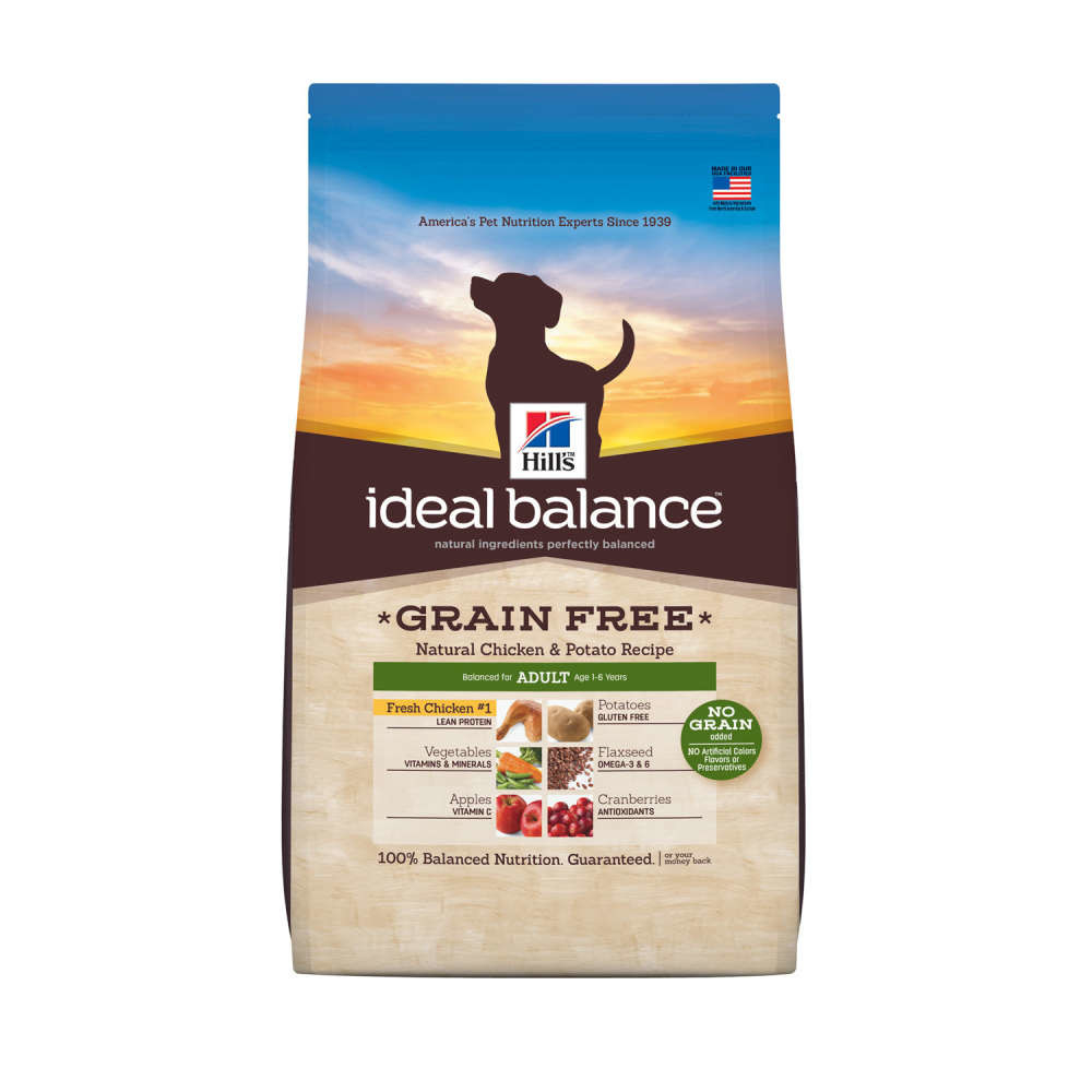 Hill's Ideal Balance Canine - Adult Grain Free con Pollo & Patatas 800 g, 2 kg, 12 kg