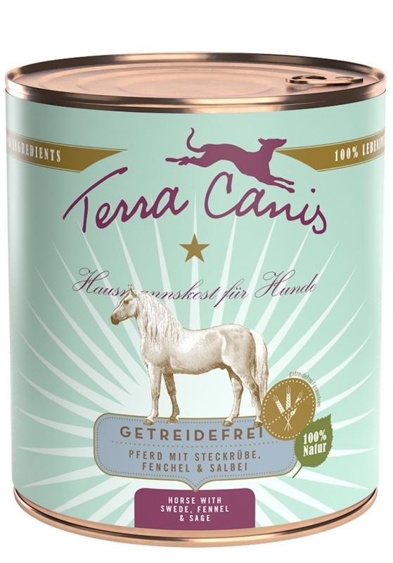 Terra Canis Menu sans Céréales, Cheval avec Navet, Fenouil & Sauge 800 g