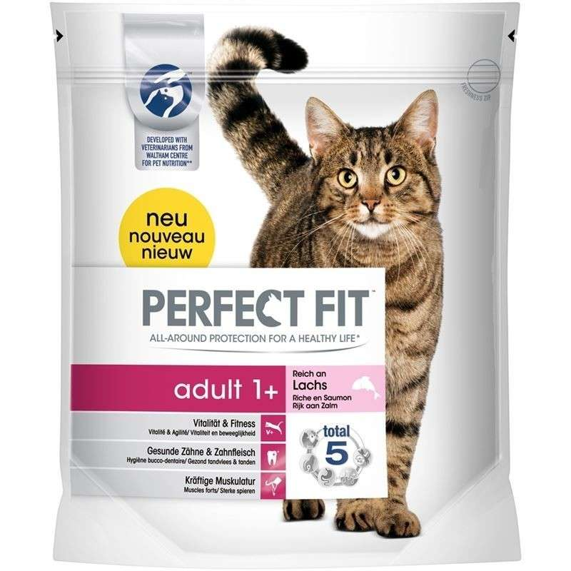 Perfect Fit Adult 1 + Rico en Salmón 750 g