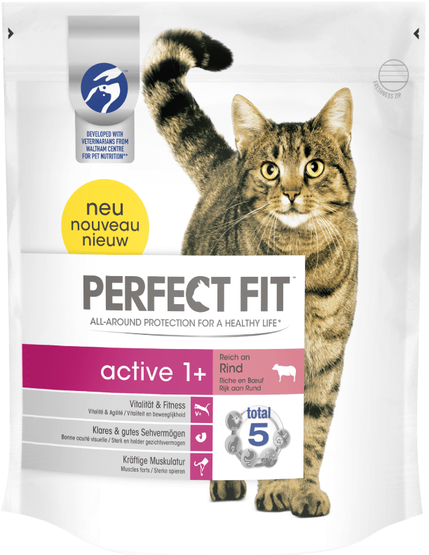 Perfect Fit Active 1 + Rich in Beef 1.4 kg, 750 g kjøp billig med rabatt