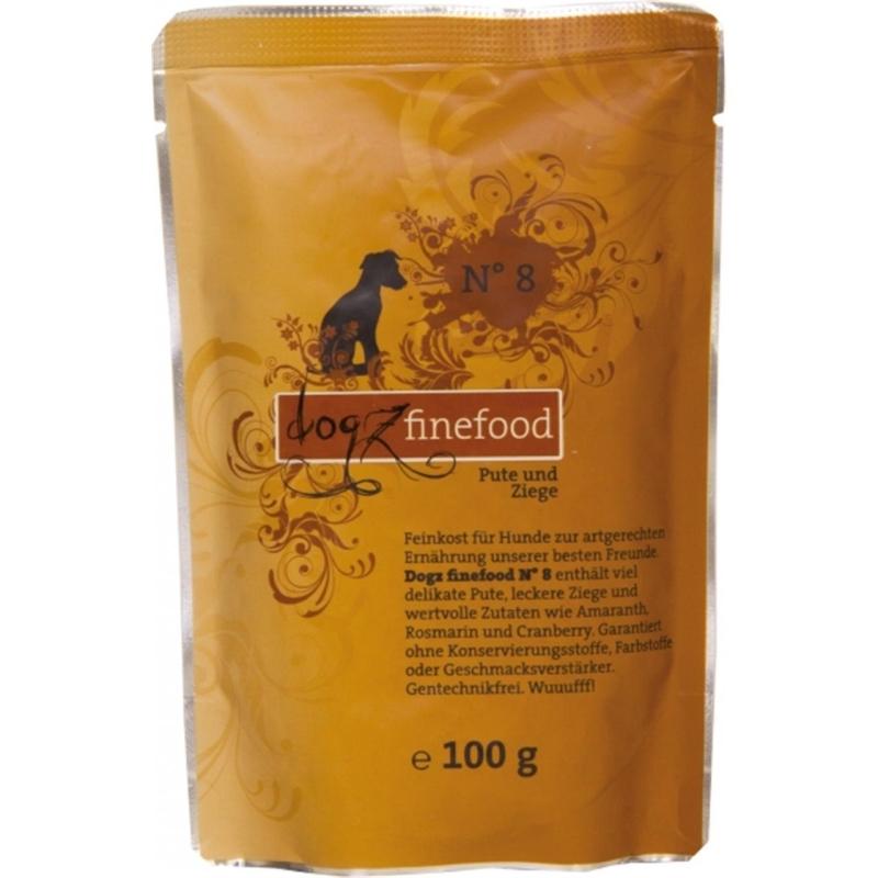 Dogz Finefood No.8 Pute & Ziege 100 g