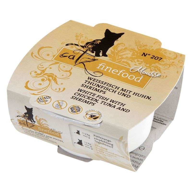 Catz Finefood Mousse No. 207 - White fish, Tuna, Chicken & Shrimp 100 g