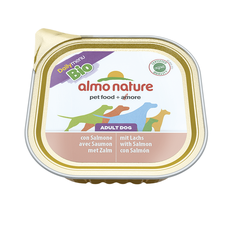 Almo Nature DailyMenu BIO Adult Dog met Zalm 100 g 8001154121162
