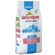 Almo Nature Sterilised Adult Cat avec Saumon et Riz 2 kg - Nourriture pour chats avec problèmes urinaires