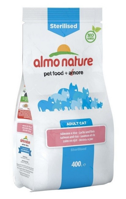 Almo Nature Sterilised Adult Cat con Salmón y Arroz 400 g