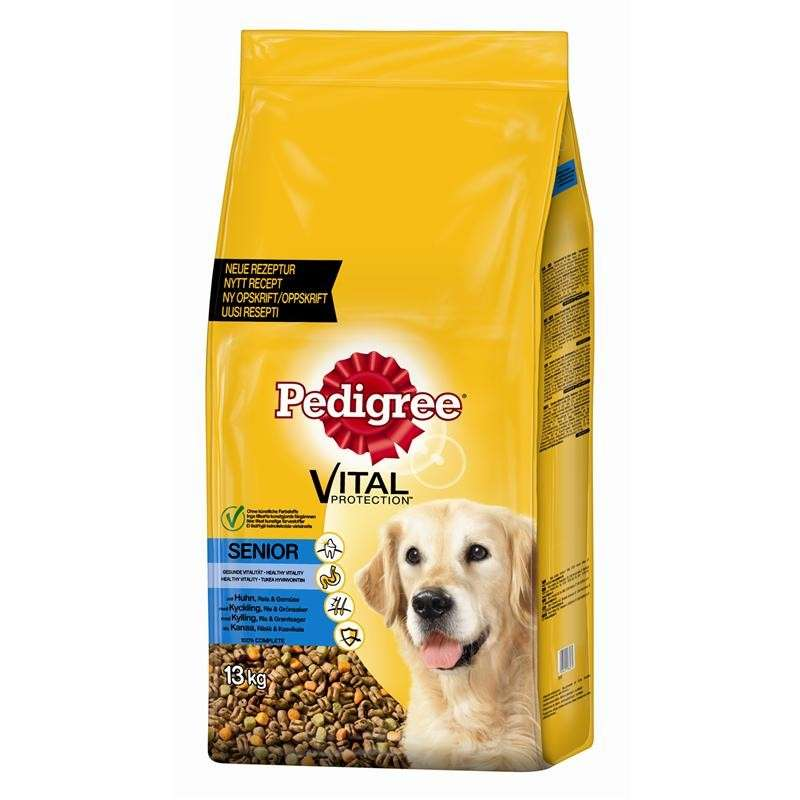 Pedigree Senior con Pollo, Arroz y Verduras 6.5 kg, 2.5 kg, 13 kg