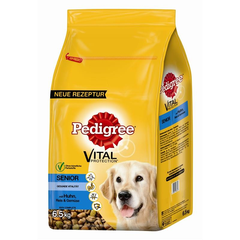 Pedigree Senior 8+ con Pollo y Arroz 6.5 kg