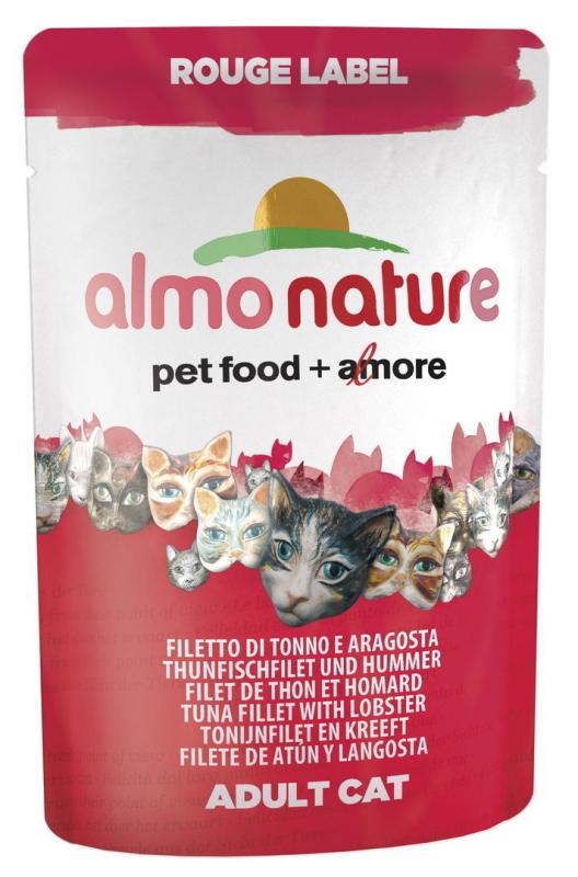 Almo Nature Rouge Label Wet Filete de Atún y Langosta 55 g
