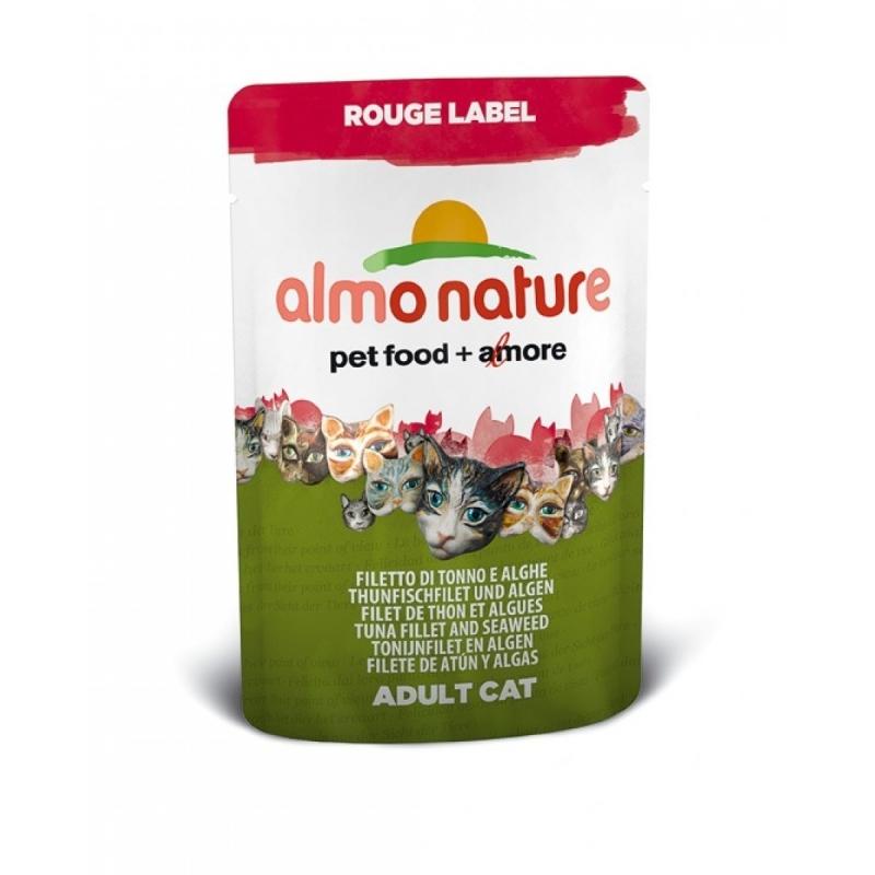 Almo Nature Rouge Label Wet Flet de Thon & Algues 55 g
