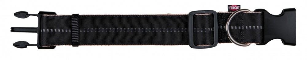 Trixie Softline Elegance Halsband, extra breit 32-45x3.8 cm Schwarz