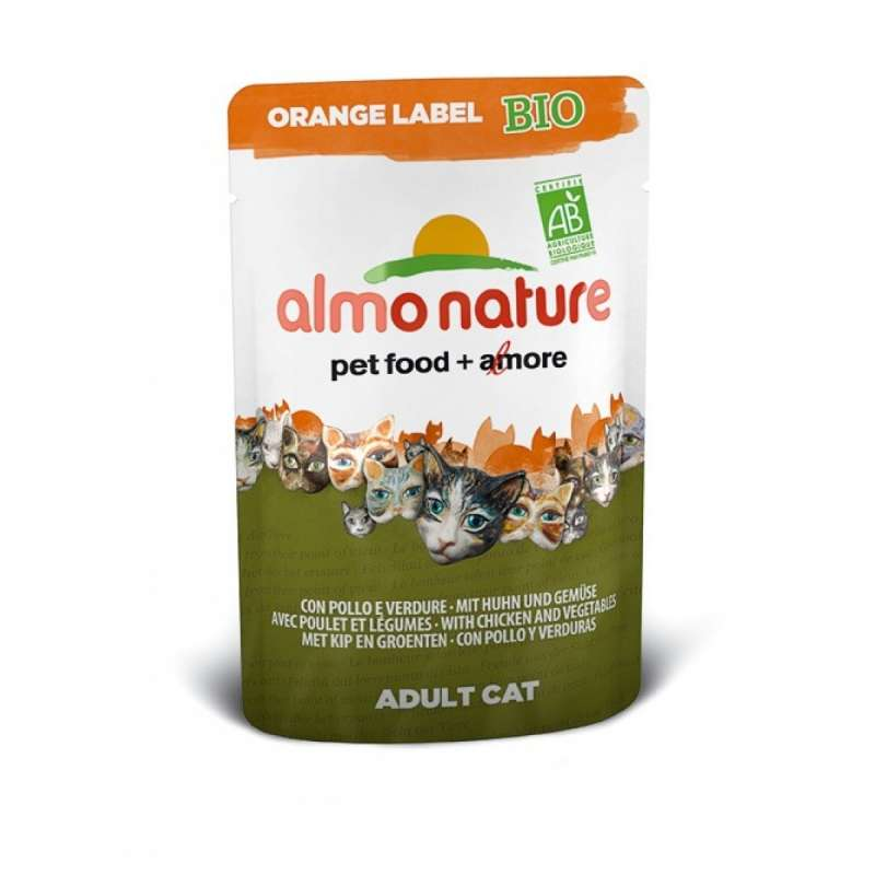 Orange Label Wet with Chicken and Vegetables Bio by Almo Nature 70 g buy online