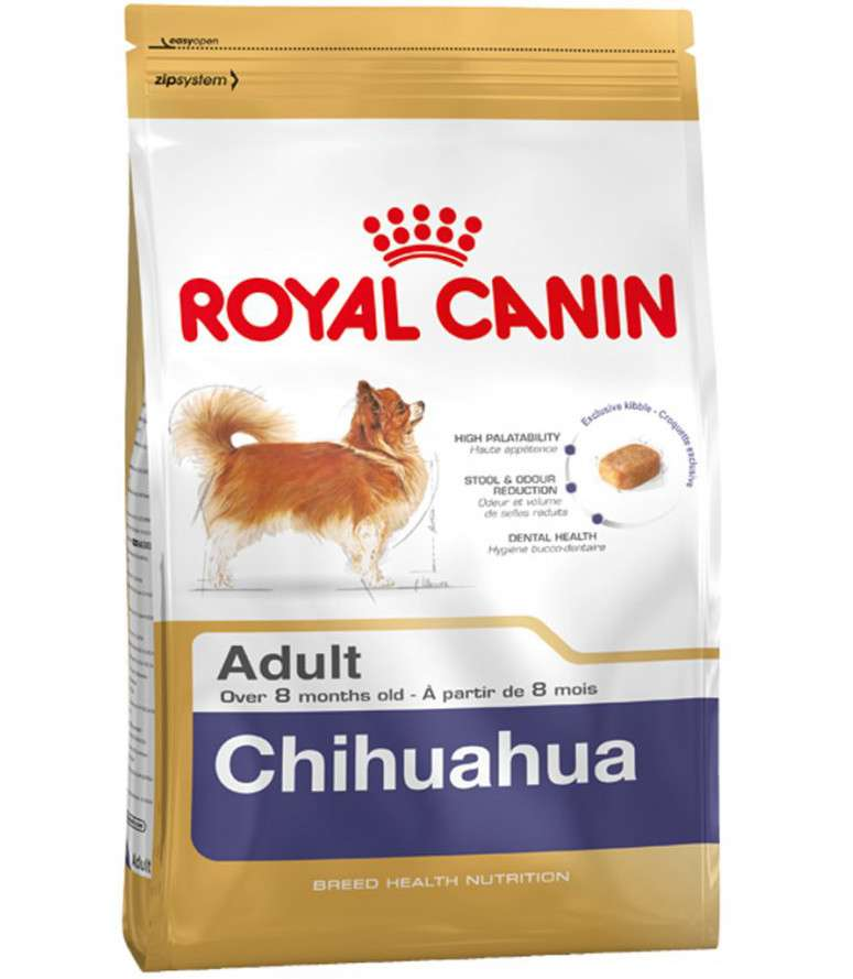 Royal Canin Breed Health Nutrition Chihuahua Adult 1.5 kg, 3 kg, 500 g