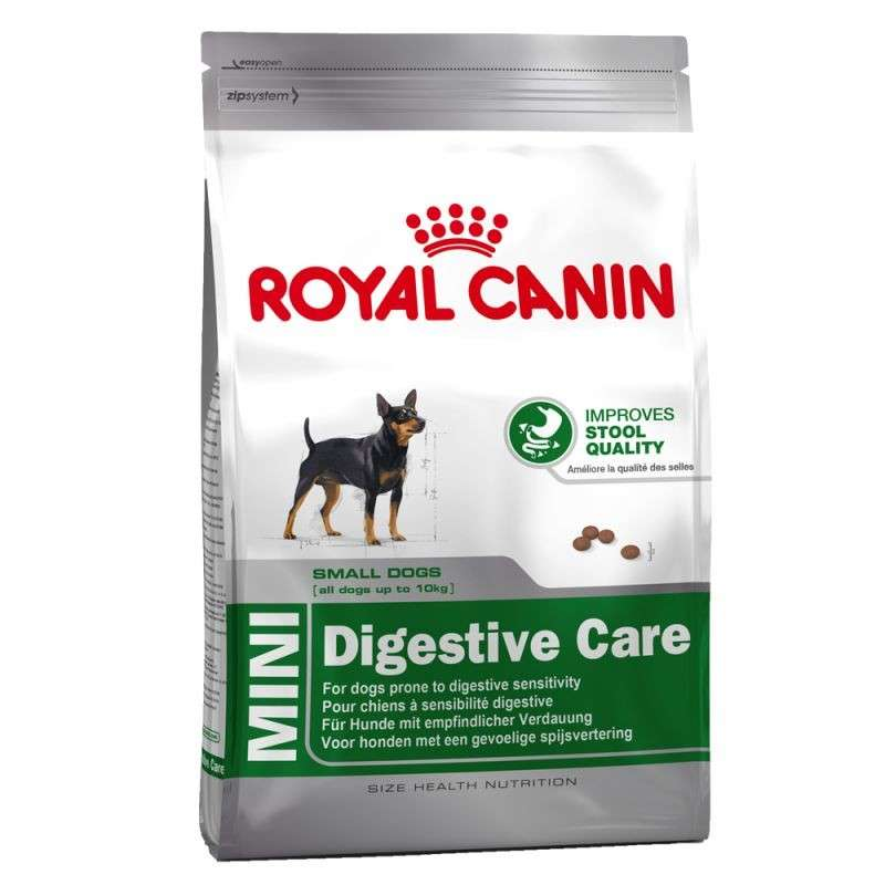 Royal Canin Size Health Nutrition - Mini Digestive Care 10 kg, 2 kg, 800 g osta edullisesti
