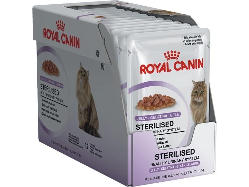 Royal Canin Feline Health Nutrition Multipack Sterilised i Gelé 12x85 g kjøp billig med rabatt