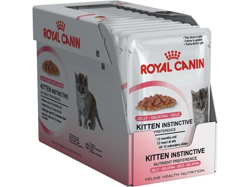 Royal Canin Feline Health Nutrition Multipack Kitten Instinctive in Gelee 12x85 g kjøp billig med rabatt