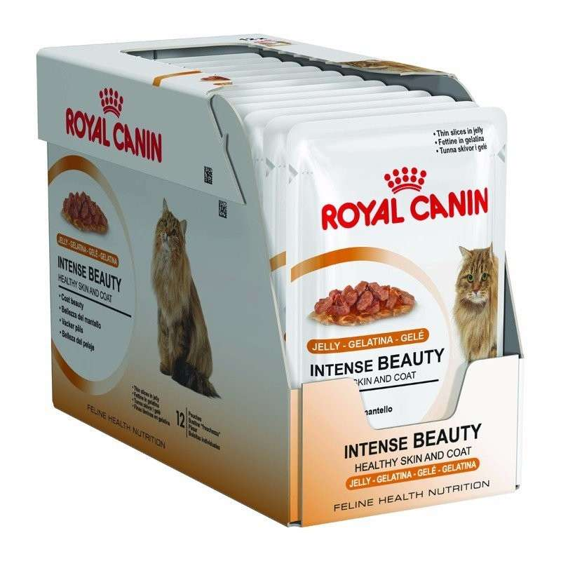 Royal Canin Feline Health Nutrition Multipack Intense Beauty i Gelé 12x85 g kjøp billig med rabatt