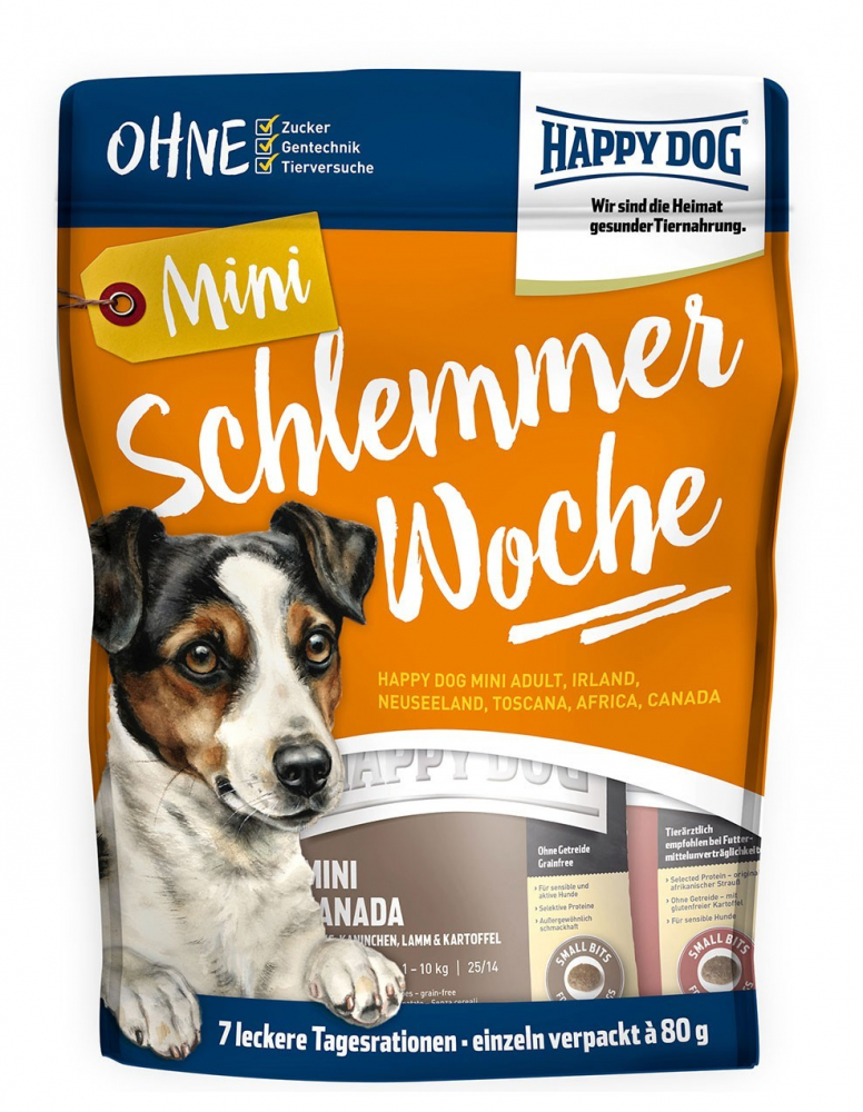 Happy Dog Mini Bolsa Schlemmerwochen (gula / semana) 560 g