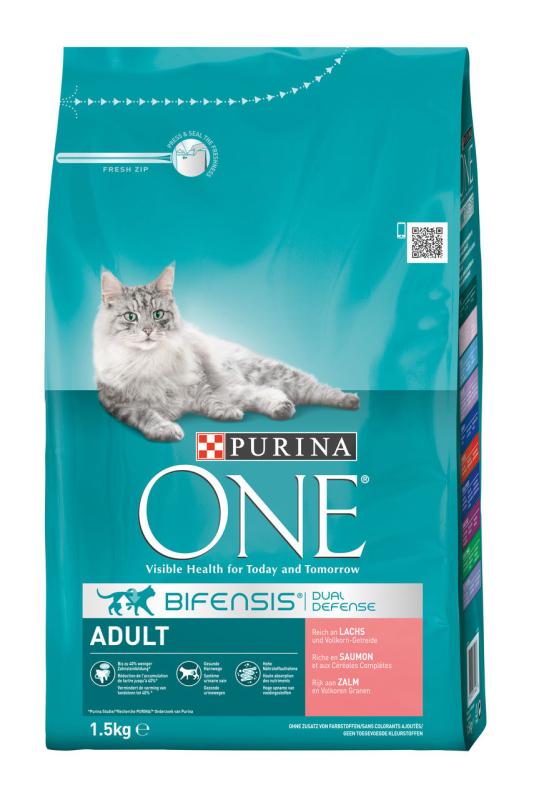 Purina One Bifensis Adult - Runsaasti Lohta 3 kg, 800 g, 1.5 kg, 6x1.5 kg