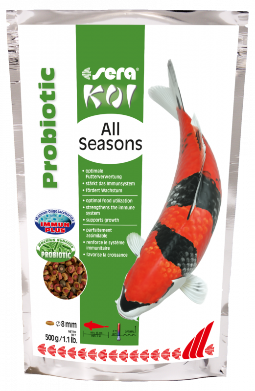 Sera Koi All Seasons Probiotic 500 g 4001942444569 avis