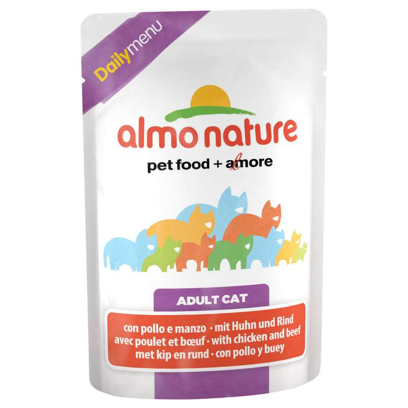 Almo Nature DailyMenu Adult Cat Chicken and Beef 70 g buy online