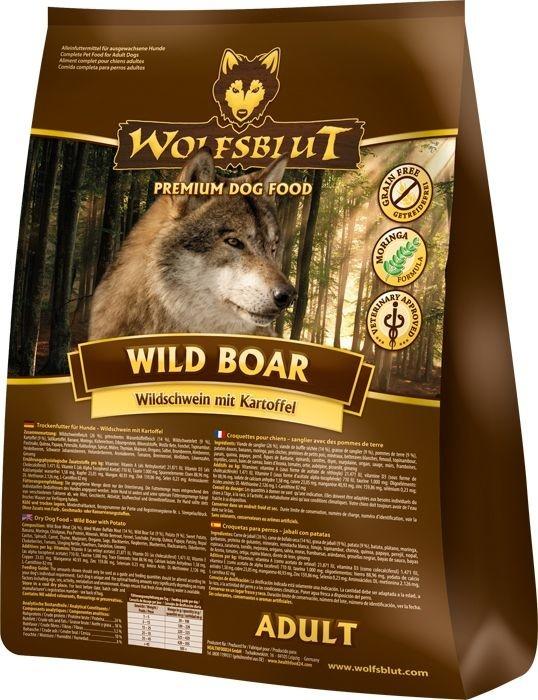 Wolfsblut Wild Boar Adult Wild Zwijn met Aardappel 15 kg, 2 kg, 500 g