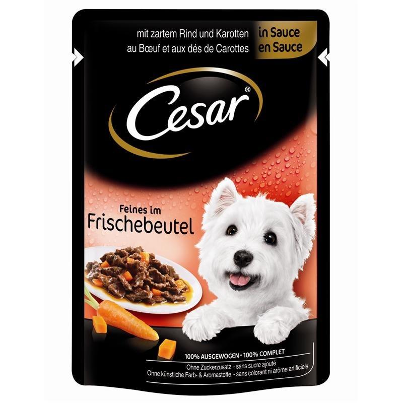 Cesar Portionsposer, Selection in Sauce 100 g køb rimeligt og favoribelt med rabat