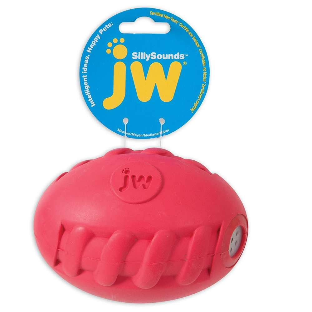 JW Silly Sounds Spiral Football M Coral