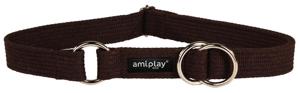 Amiplay Half-check Cotton Collar  Brun XXL