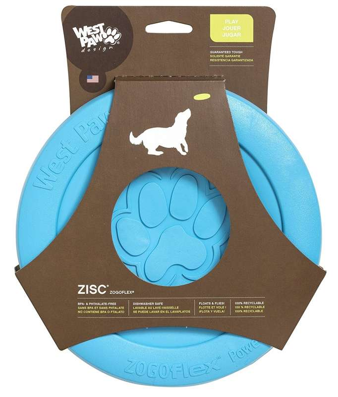 West Paw Zisc Flying Disc Himmelblå 16 cm