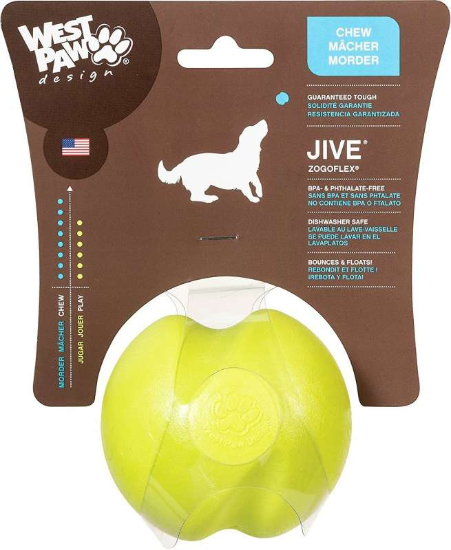 West Paw Jive Dog Ball, ø4.5 cm  Citron XS