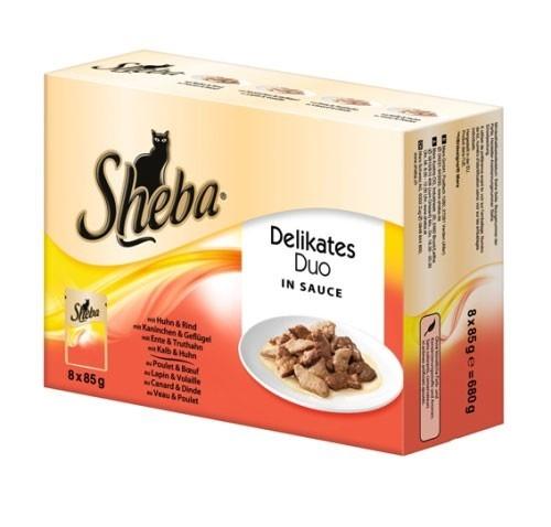Sheba Multipack Delikates Duo en Salsa 8x85 g