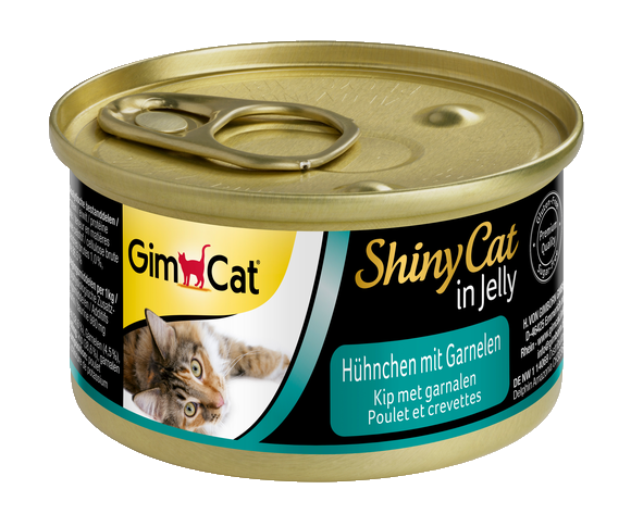 Kissan märkäruoka ShinyCat Chicken with Shrimp 70g GimCat osta edullisesti