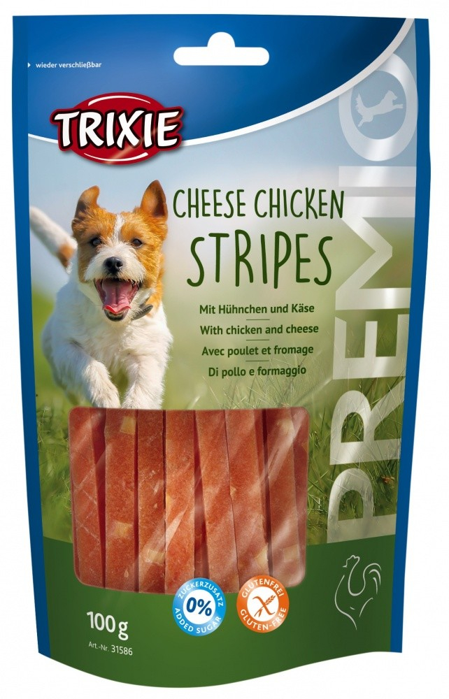 Trixie Premio Chicken Cheese Stripes 100 g online bestellen